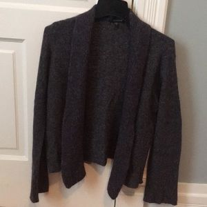 Eileen Fisher, shawl collar sweater, eggplant